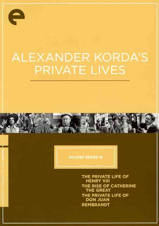 ECLIPSE 16:ALEXANDER KORDA'S PRIVATE BY ECLIPSE (DVD)